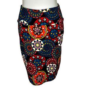 LULAROE Cassie Mandala Pencil Skirt Black S